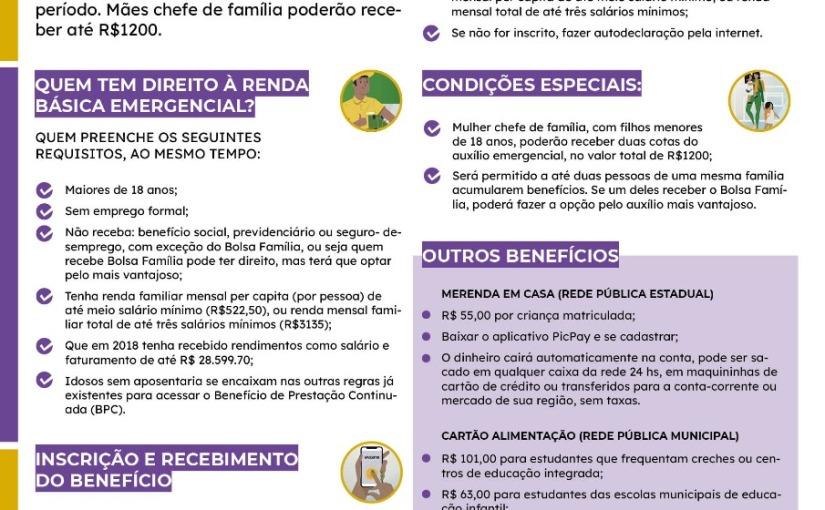 Cartilha Renda Básica Emergencial – pandemia decovid19